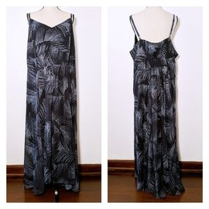 NWT City Chic Palm Frond Formal Maxi